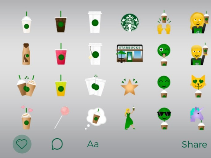 The Starbucks Emoji Keyboard Is Available For Download (Photos)
